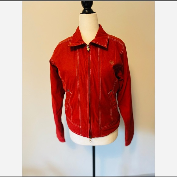 Ariat Women's Red Zip-up Jacket Size Small